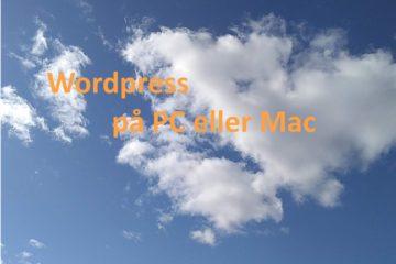Wordpress med XAMPP