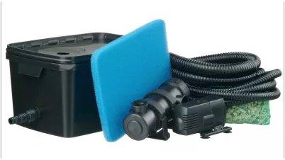 Filter og pumpe